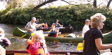 Bild von Familienfahrt mit dem Kanu