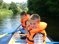 Bild von Familienfahrt mit dem Kanu auf der Wupper
